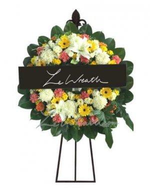 พวงหรีดดอกไม้สด ราคาไม่เกิน 1,500 บาท LW004 – อัมพร 4
