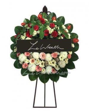 พวงหรีดดอกไม้สด ราคาไม่เกิน 1,500 บาท LW005 – อัมพร 5