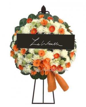 พวงหรีดดอกไม้สด ราคาไม่เกิน 1,500 บาท LW007 – อัมพร 7